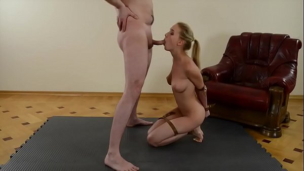 Hot blonde wife blowjob and swallow