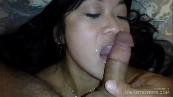 Nasty Asian MILF rimming her husband