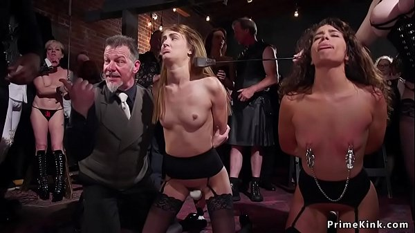 Submissive sluts anal fucked at party