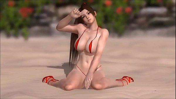 Mai Shiranui in a Micro Bikini DOAX3