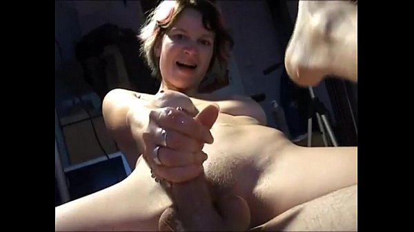 Amateur Couple Share Dildo while she Strokes him off Thumb