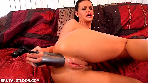 Sexy brunette Roxy Raye using brutal dildos to prolapse