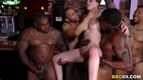 Six dicks for marie gangbang bar, swimming boob slip