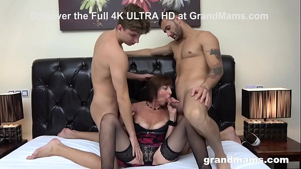 Horny Old Bitch Gets Her Holes Stuffed by Two Cocks Thumb