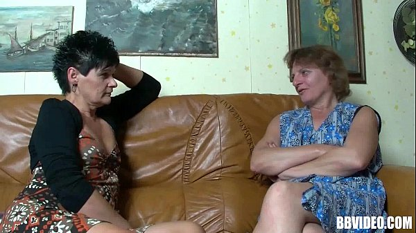 Two hot german matures shares one cock