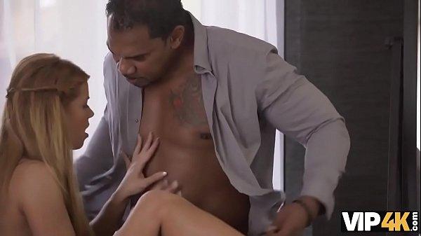 VIP4K. Long-legged miss takes powerful black rod in her vagina Thumb