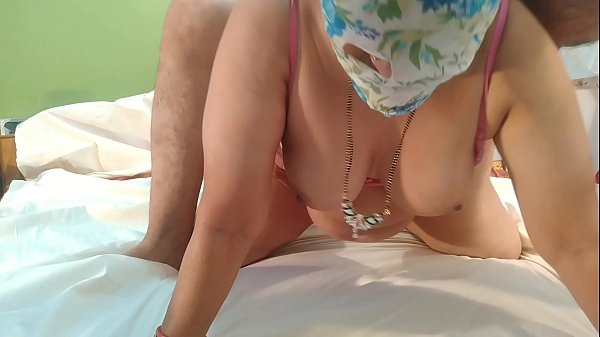 Bhabhi put a 10-inch black sturdy dildo on her husband's tiny cock and put his pussy on it Thumb