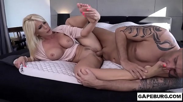 Hot blonde milf Tiffany Rousso sexy feet and wet slit