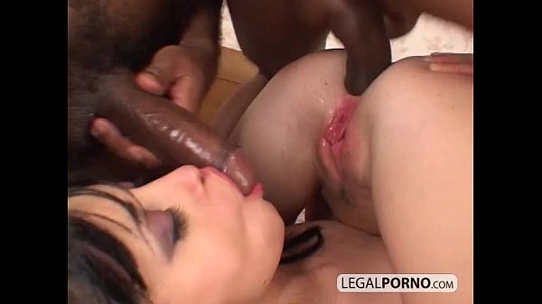 Two big black dicks fuck two sexy brunettes HC-4-04