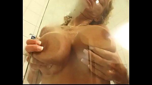 She has a sensual shower