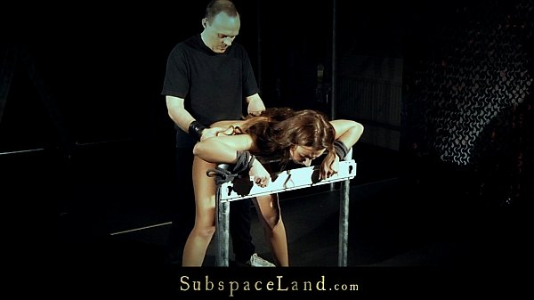 Hardcore Julie in sexy corset hard whipped and fucked in doggie