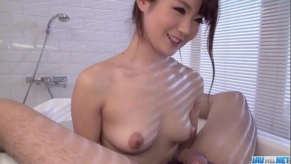 Maya Kawamura provides pleasure in the bathroom  - More at javhd.net