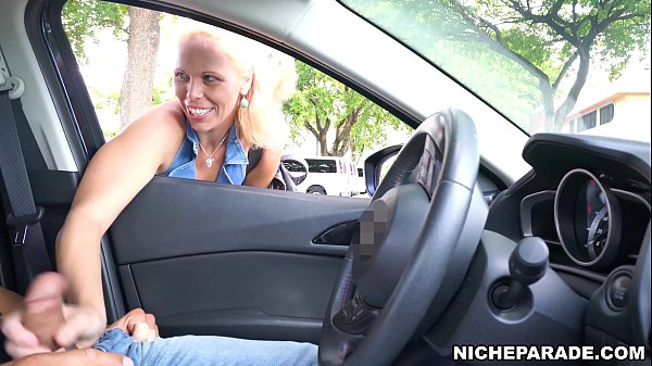 NICHE PARADE - Mature Blonde Slut Gave Me Handjob Through Car Window In Public!