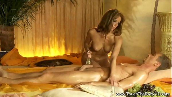 She Is Beautiful Massaging Him