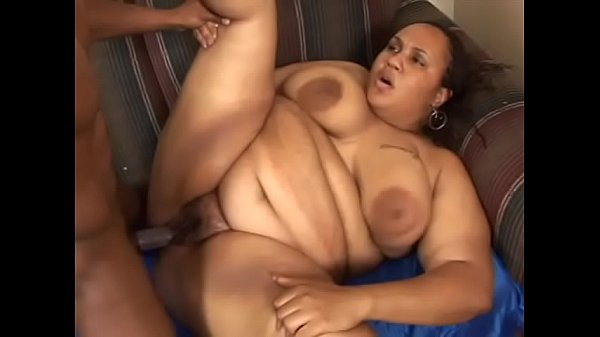 Ebony Milk Shake with huge natural tits gets pounded and creamed indoors Thumb
