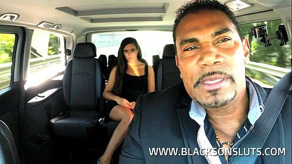 svart taxi porno