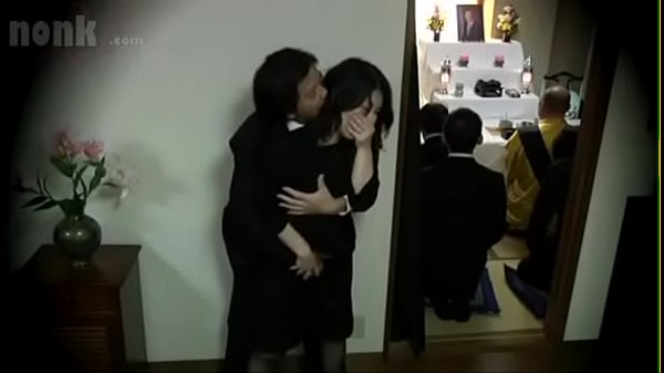 Japanese widow fucked during her husband's funeral