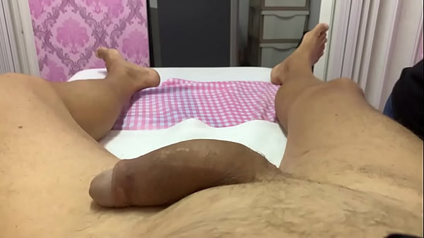 Busty Milf does Brazilian Waxing  and post wax massage of guy with a huge cock