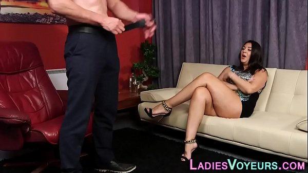 Busty mistress toys and strokes her pussy Thumb