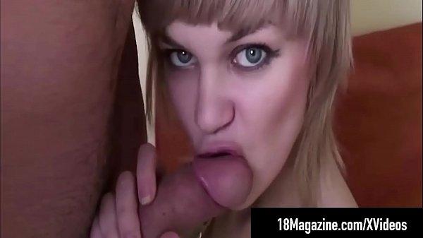 Short Haired Teen Amy Days Sucks & Foot Fucks A...