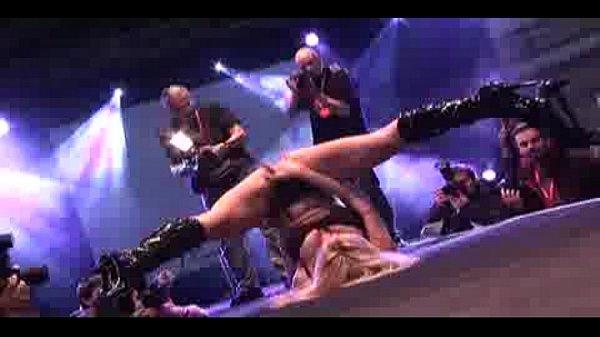 Porn on stage hot blonde dildo