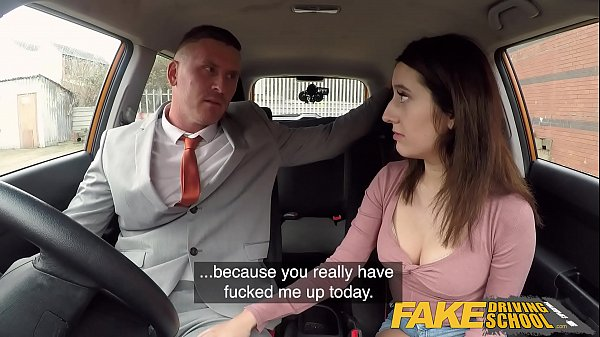 Fake Driving School Huge facial for sexy spanish eyes