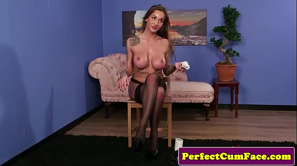 Busty inked Britt demands cock and facial