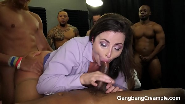 Gangbang Creampie - Freaky Hot Milf Teacher Gets Fucked By Muscular Studs Thumb