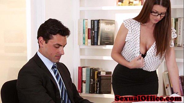 Busty secretary getting fucked on table Thumb