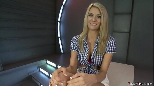 Tall blonde Amanda Tate fuck machine Thumb