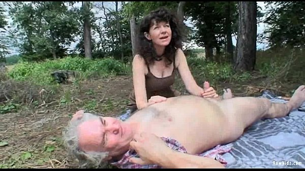 Mature sex outdoors
