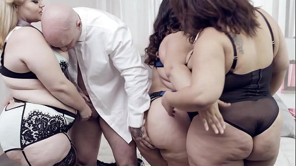 סרטי סקס Rare BBW Orgy With 3 Oversized Cuties And A Hung Gentleman – Karla Lane, Mazzaratie Monica, Cayenne Amor
