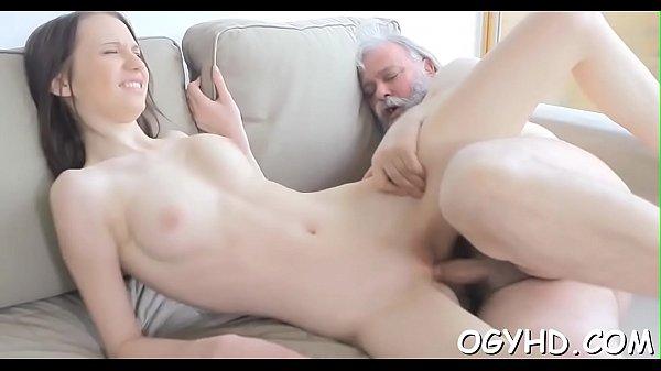 Old chap fucks young juicy pussy Thumb