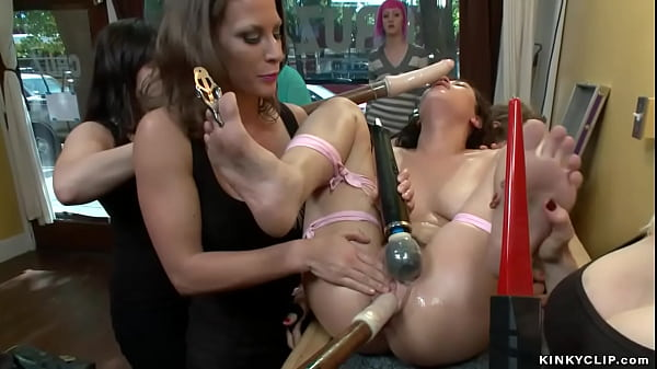 Lesbian group public fucked by dykes