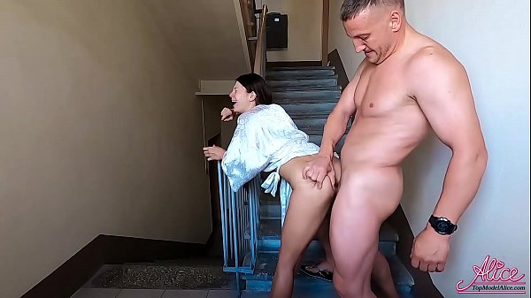 Husband Public Hard Fuck Neighbor On Staircase While Wife Rested Thumb