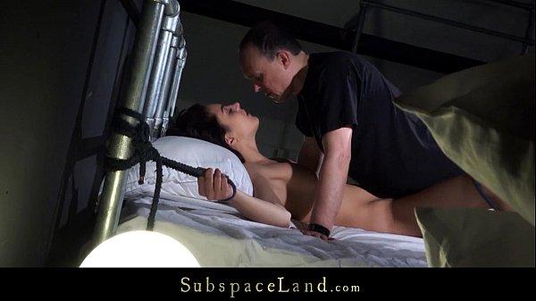 Candid slave girl Carolina squirts of pleasure under Master's domination Thumb