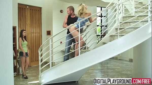 (Alexis Texas) sucks cock and gets pounded on the stair case - Digital Playground