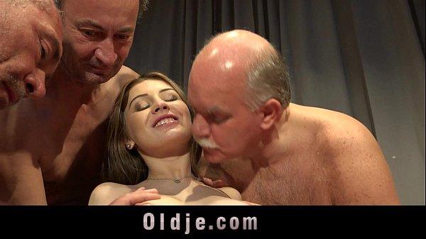 5 Old men gang bang nasty young blonde Thumb