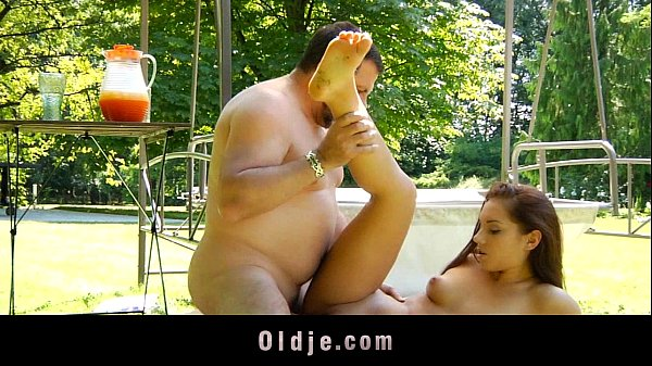 Perv old Mister fucking his next door young girl