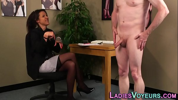 Clothed boss mistress watches and humiliates Thumb