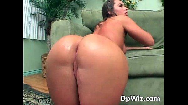 Two massive cocks going hard into slut Thumb