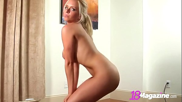 Blonde Brittany Has Huge Natural Tits & Sweet Young Pussy!