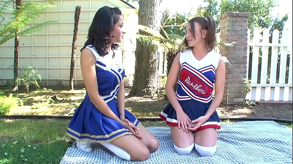 Hot Big tits college cheerleaders meet after school to show some love to each other to give satisfaction at the garden, outdoors Thumb
