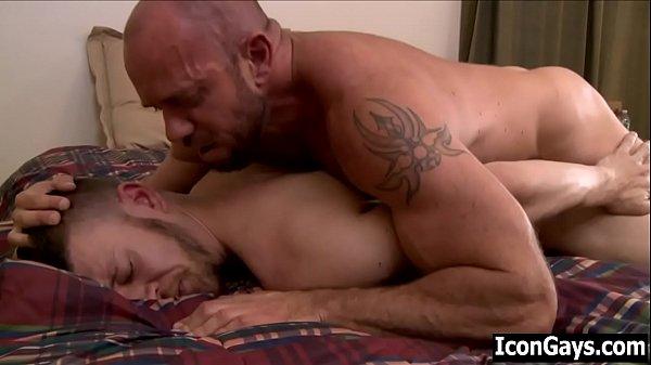 Gay dad fucks his jealous step son