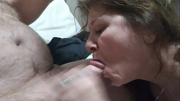Sloppy wet hand job with a happy ending