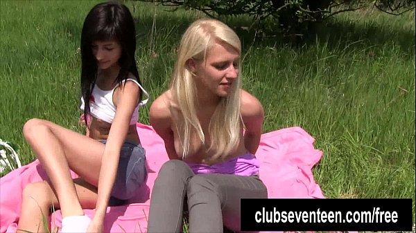 Lesbian teens masturbating outdoors Thumb