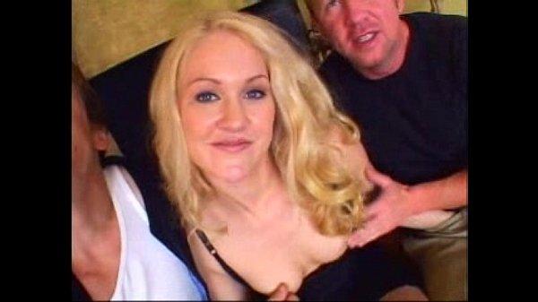 Gangbang Jamie - British Blonde with 2 Guys