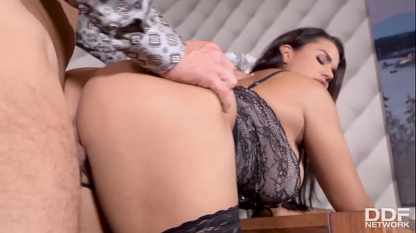 Voluptuous brunette babe Chloé's juicy big tits and pussy fucked hardcore Thumb