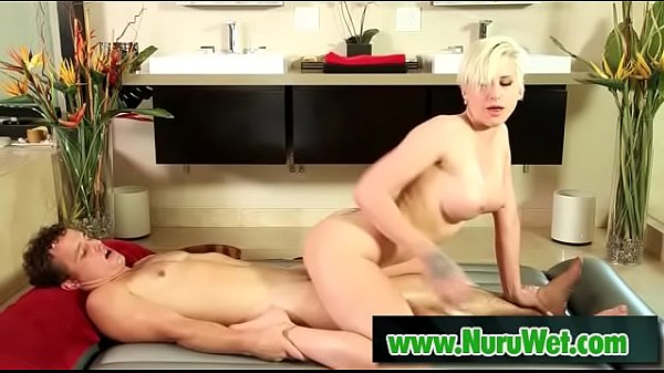Robby Echo and Dylan Phoenix - Busty blonde masseuse rides clients big dick  thumbnail