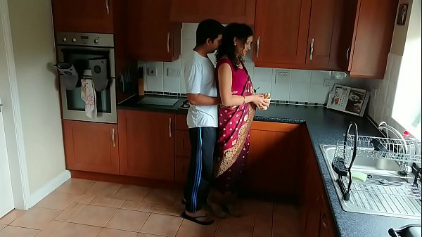 Red saree Bhabhi caught watching porn seduced and fucked by Devar dirty hindi audio desi chudai leaked scandal sextape bollywood POV Indian Thumb